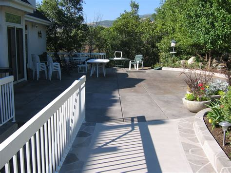 patio acid stained concrete concrete design systems