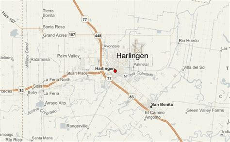 map of harlingen texas harlingen location guide