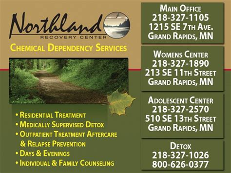 Northland Recovery Detox Grand Rapids Mn by Lincoln Marketing St Louis County Mn