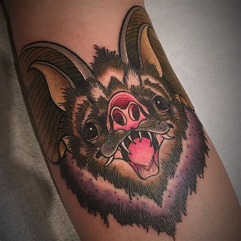 traditional bat tattoo bat images designs
