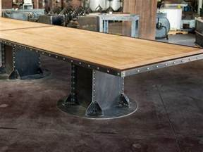 Kitchen Islands With Wheels i beam table base vintage industrial furniture