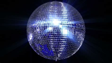 disco mirror ball center wide stock footage youtube