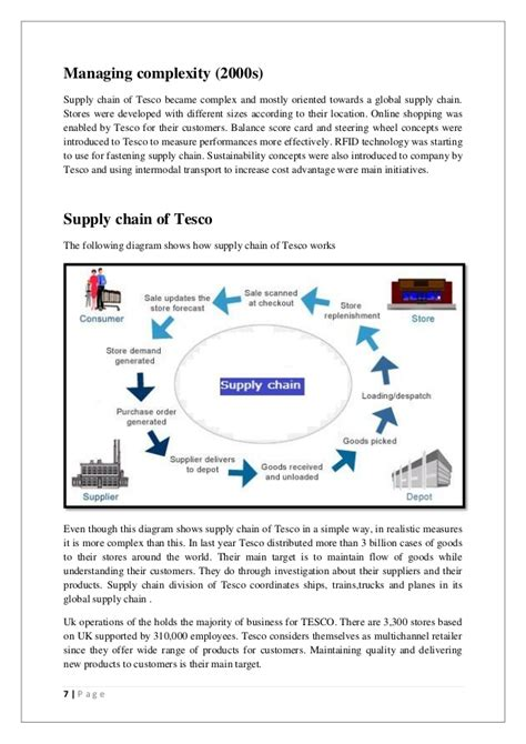 tesco supply chain diagram supply chain of tesco