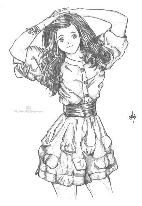 como dibujar vestidos fotos el vestido por chko182 dibujando