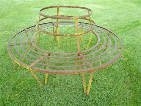 wrought iron garden bench seat antique garden wrought iron tree bench seat