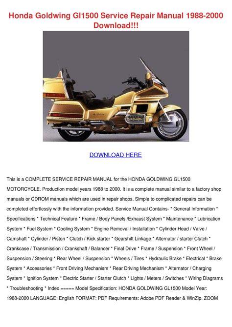 manual repair autos 1988 honda civic head up display honda goldwing gl1500 service repair manual 1 by kera jodway issuu
