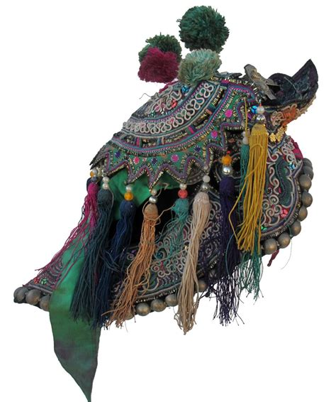 Hat Dng 448 dong ceremonial back hat vintage and antique children s hats textile treasures