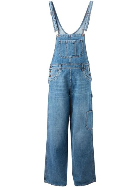 Overall Blue moschino denim overalls in blue lyst
