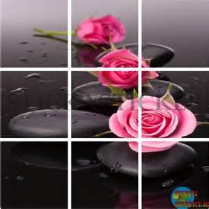 sticker carrelage cuisine salle de bain zen galets roses