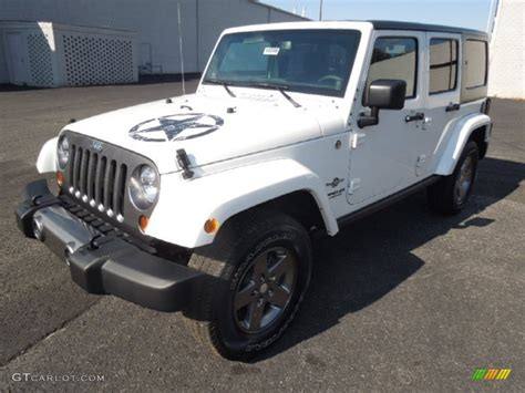 Oscar Mike Jeep Bright White 2013 Jeep Wrangler Unlimited Oscar Mike