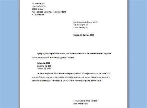 esempi di lettere commerciali modelli lettere commerciali modelli lettere commerciali