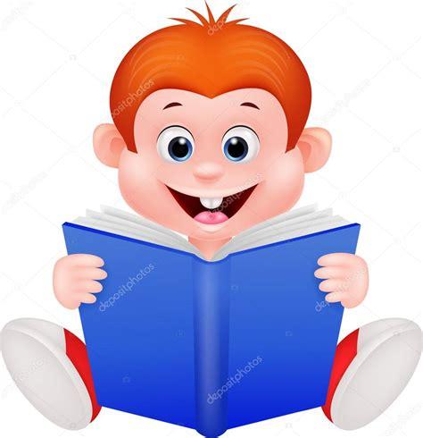 imagenes infantiles niños leyendo ni 241 o de dibujos animados leyendo un libro vector de
