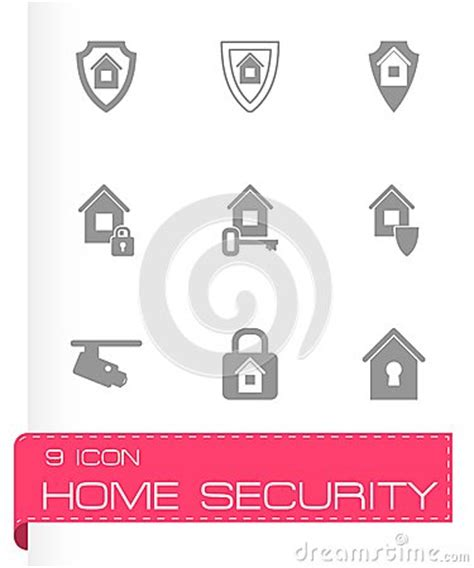 vector home security icon set stock vector image 53015837