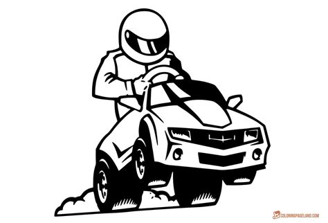 coloring page of race car driver knights coloring pictures download and print out for free