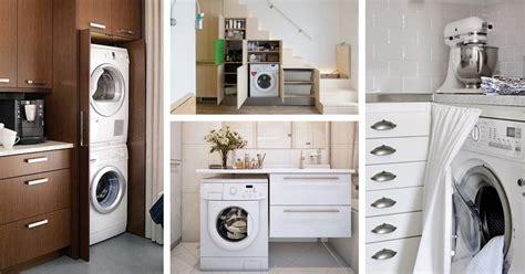 nascosta in bagno come nascondere e posizionare la lavatrice con stile
