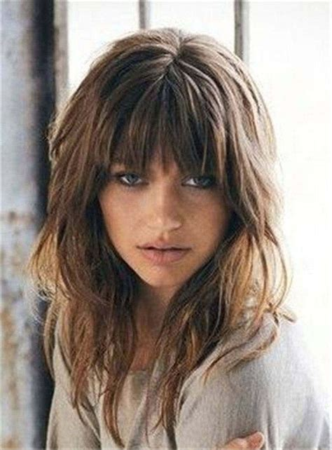easy shag long hair best 25 hair with bangs ideas on pinterest medium