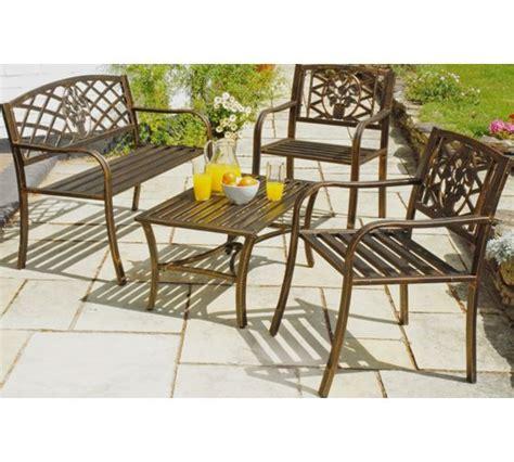 argos garden bench buy garden cast iron bench brown at argos co uk your
