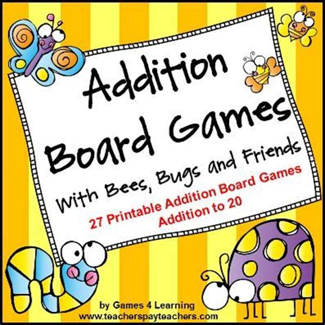 printable math addition board games 347 best images about addition on pinterest