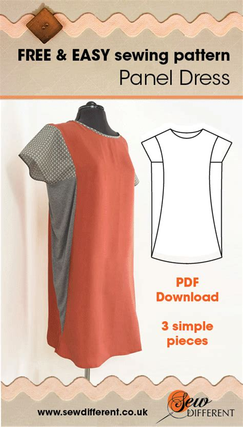 pattern download sewing panel dress multisize sewing pattern sewing patterns