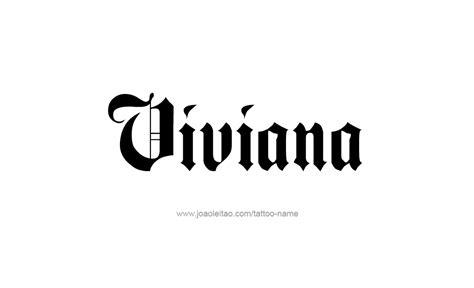 tattoo name vivian viviana name tattoo designs