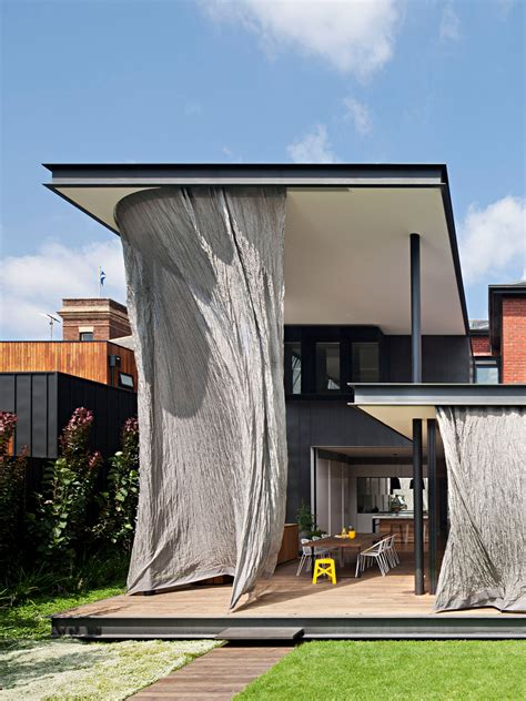 the curtain house melbourne woven metal mesh curtain wraps melbourne house extension