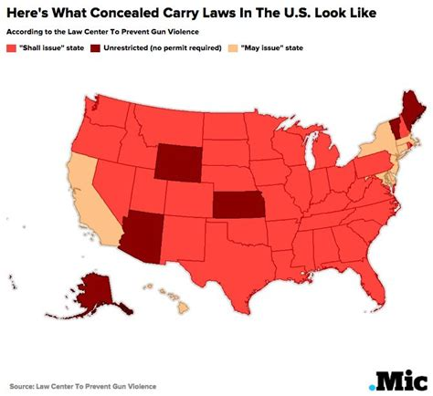 Concealed Carry Background Check Which States Allow Concealed Carry This Map Shows Who Can Legally Carry A Gun And Where
