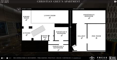 layout of christian grey s apartment christian grey apartment floorplan film and furniture