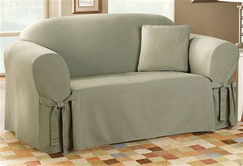 cotton duck sofa slipcover clearance sure fit cotton duck one piece slipcovers