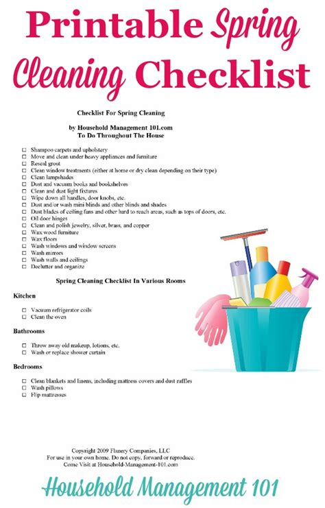 spring cleaning checklist printable spring cleaning checklist for your home with free printable
