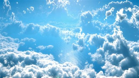 foto wallpaper biru gambar pemandangan air alam horison langit putih