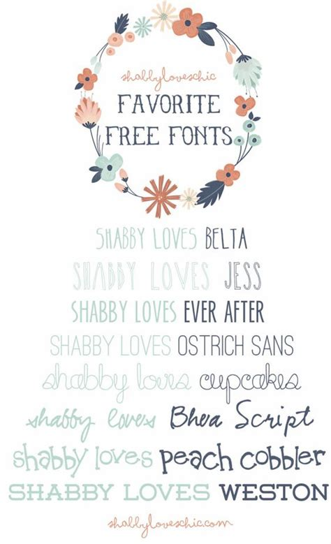 shabby loves free fonts b l o g pinterest creative