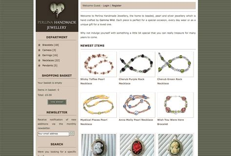 Handmade Website Design - perlina handmade jewellery styletheweb