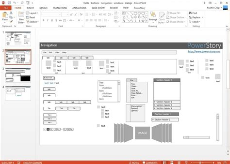 Free Wireframe Templates For Powerpoint Powerpoint Wireframe
