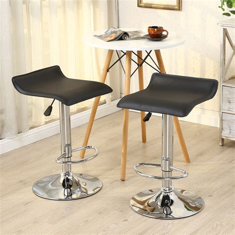 contemporary bar stools swivel 2pc modern bar stools pu leather adjustable swivel