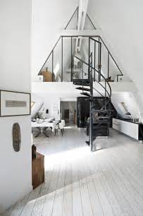 attic transformed into tiny modern loft in paris