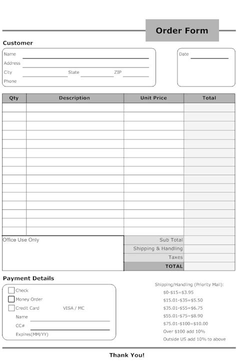 up order form template basic order form template staruptalent