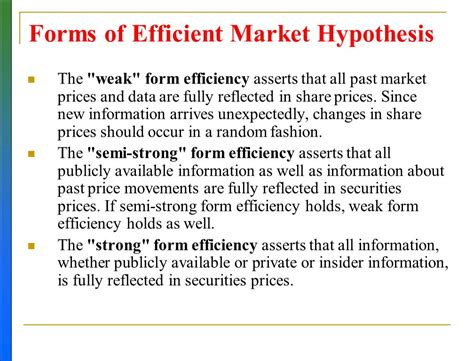 stock valuation methods and efficient market hypothesis