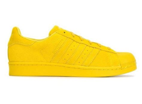 shoes yellow adidas shoes adidas superstars adidas sneakers bright sneakers wheretoget