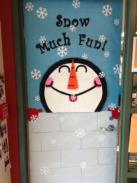 Winter School Decorations by Pretty Door Decoration Ideas Snow Much