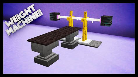 minecraft how to make a bench minecraft how to make a weights machine youtube