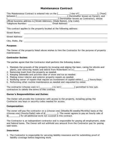 cabinet installation contract template 32 sle contract templates in microsoft word