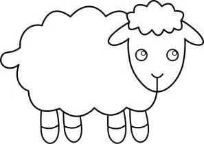 very large sheep outline printable pictures to pin on