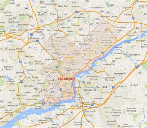 usa philadelphia map philadelphia pennsylvania map