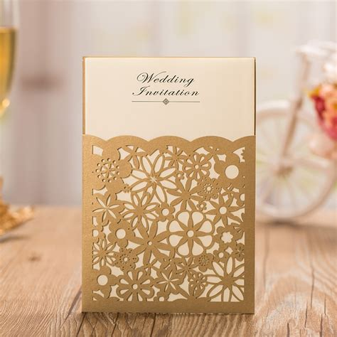 personalised wedding cards free gold laser cutting invitation cards gold wedding