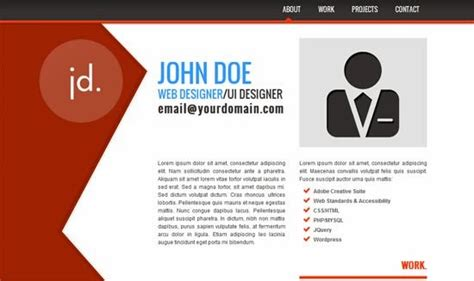 7 Html Css Personal Website Templates Free Download Simple Personal Web Page Template