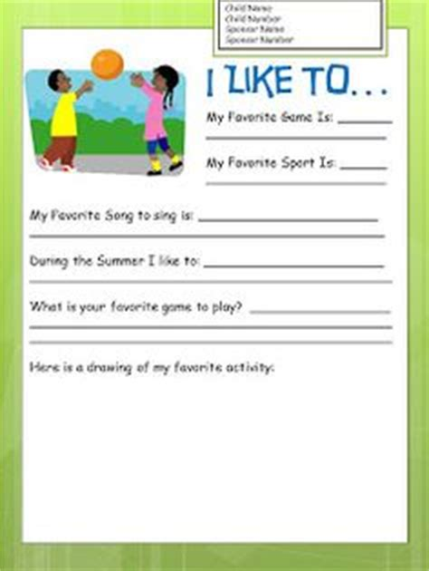 letter writing template kids