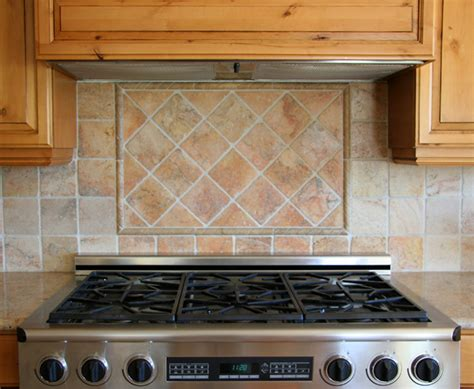 Kitchen Backsplash Medallions Hegle Tile Kitchens Tile Backsplash Medallions And Listelles