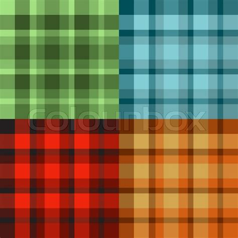 pattern green red brown red blue seamless scotland patterns in green red orange blue and