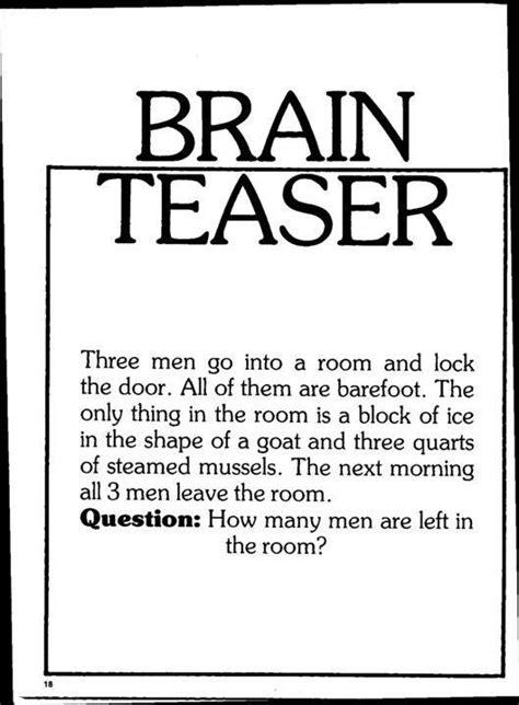 brain teasers brain teaser energy science