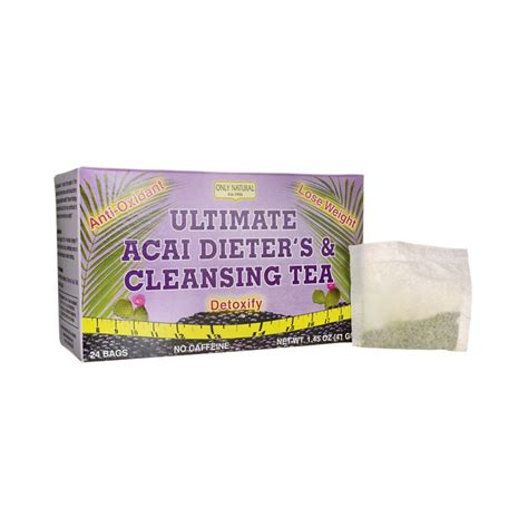 Best Cleanse And Detox Tea by Ultimate Acai Dieters Cleansing Tea 24 Bag S